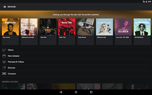 Spotify: Listen to new music, podcasts, and songs Screenshot