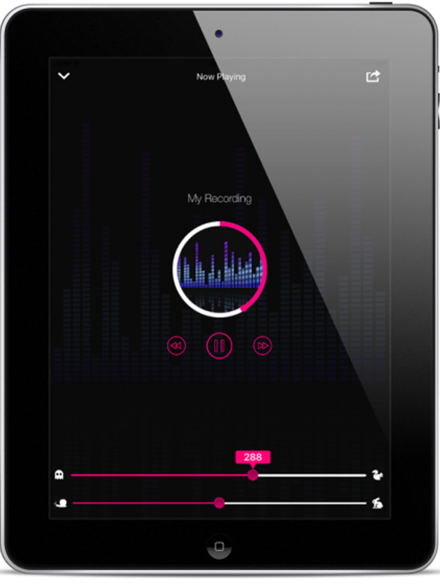 ‎Voice Pitch and Tempo Changer - Adjust Speed & Tempo of Audio Recordings Screenshot