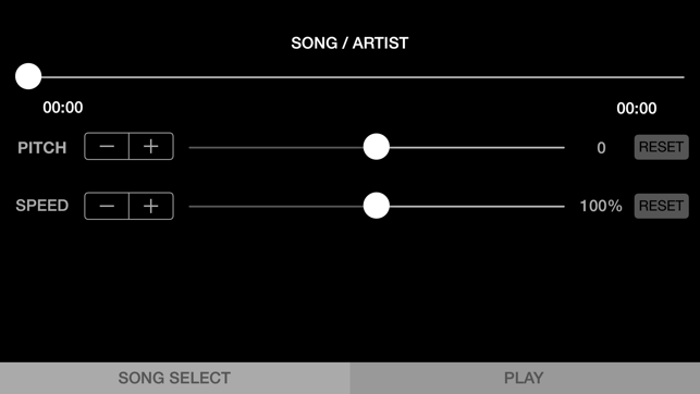 ‎SpeedPitch - Audio Player For Changing Song's Speed & Pitch Screenshot
